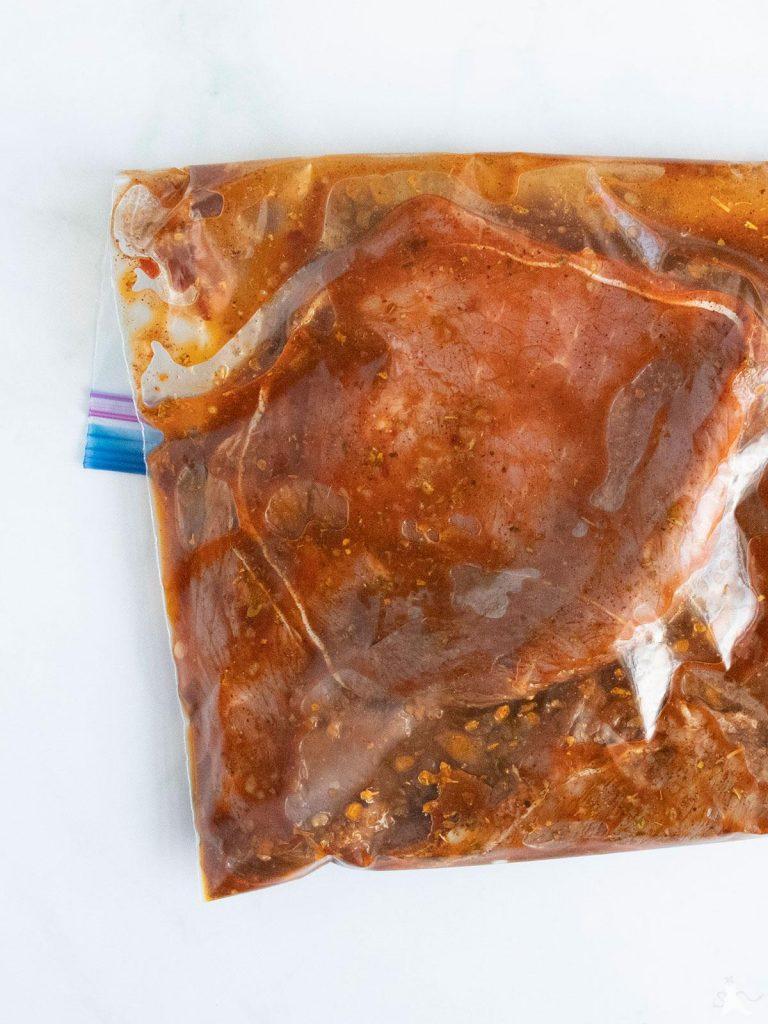 sirloin tip steak in chipotle marinade